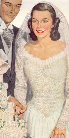 Vintage wedding cake!