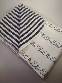 Personalized Organic Cotton Baby Toddler Blanket Swaddle Blanket Hospital Shower Gift on Etsy, $44.00