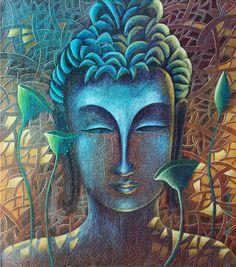 budha 2 - Portrait/Figures Acrylic Painting | World Art Community
