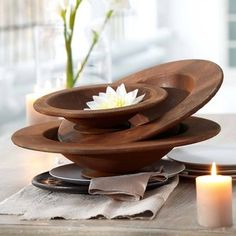 zen, lotus flower, natural wood decor