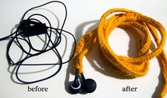 Easy Listening Ear Bud Covers on Moogly and other great last minute crochet gift ideas - all take less than 200 yds of yarn! Get the list at mooglyblog.com