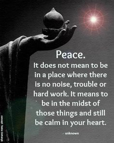 Peace is my number one Priority!!!