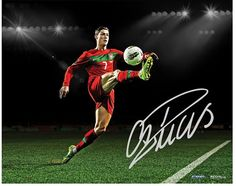 $919.10 - Steiner Sports Cristiano Ronaldo Portugal Ball Control 16'' x 20'' Signed Photo - This signed Cristiano Ronaldo photo is the finishing touch to any well-rounded collection.  PRODUCT FEATURES Hand signed Certificate of authenticity Steiner Sports hologram Authenticated by Icons.com. Soccer, Futbol, football, futball, sports, sports memorabilia, gift for dad, man cave