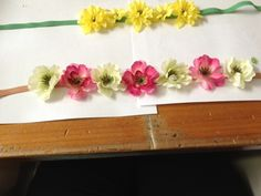 DIY Twistband skinny headband flower piece!