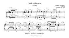 Beethoven : Lustig und Traurig, WoO 54 www.sheetmusic2print.com/Beethoven/Lustig-Traurig-54.aspx