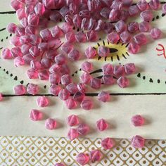 Hey, I found this really awesome Etsy listing at https://www.etsy.com/listing/183801331/vintage-glass-beads-raspberry-bead