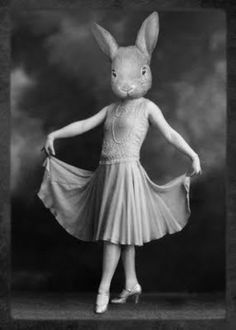 Look, look, look at what we found over at the Bedlam of Beefy . These are from Etsy shop, the Grand Ole Bestiary . We could describe their p. Rabbit Head, Rabbit Art, Rabbit Life, Animal Masks, Animal Heads, Beatrix Potter, Creepy, Scary, White Rabbits