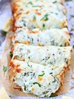 spinach artichoke dip filled bread recipe 4