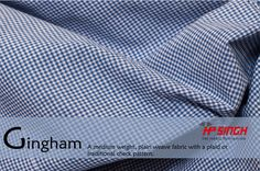 Gingham fabric by H.P.Singh