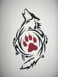 Stencil Painting stencil-painting by wolf-lion on deviantART Wolf Tattoo Design, Tattoo Designs, Tattoo Wolf, Tattoo Ideas, Wolf Print Tattoo, Wolf Tattoo Tribal, Wolf Pack Tattoo, Simple Wolf Tattoo, Watercolor Wolf Tattoo