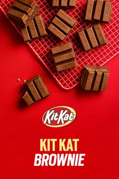 Kit Kat Recipes, Cookie Recipes, Dessert Recipes, Dessert Drinks, Dessert Bars, Kit Kat Brownies, Fast Weight Loss Diet, Losing Weight, Yule