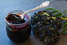 If you have never had elderberry jelly - you've missed out on one of the great treats!  Just make sure someone else makes it - it will turn everything purple!