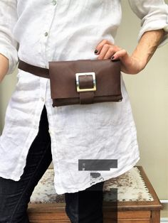 Italian Leather bum bag with rivets, Brown leather belt pouch, Gift for a girlfriend Leather Bum Bags, Leather Belt Pouch, Leather Fanny Pack, Black Leather Backpack, Brown Leather Belt, Calf Leather, Grey Backpacks, Bike Bag, Cloth Bags