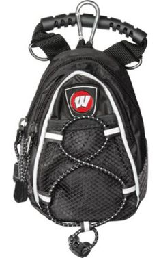 Wisconsin Badgers Black Mini Day Pack Set of 2 *** Want additional info? Click on the image. (This is an affiliate link) #BackpacksandBags