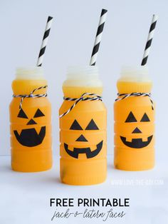 FREE Jack O' Lantern Patterns for Pumpkin Drinks by MichaelsMakers Love The Day