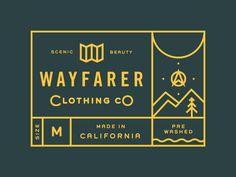 Wayfarer Clothing tag print detail by Kyle Anthony Miller.