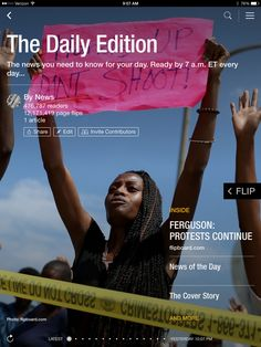 Protests in Ferguson, Gov. Perry is booked and Uber's big hire. Check out today's edition: http://flip.it/dailyedition
