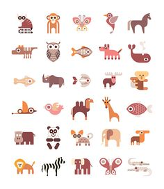 Animal Icons by dan on Creative Market