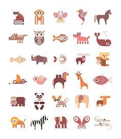 Animal Icons by dan on Creative Market
