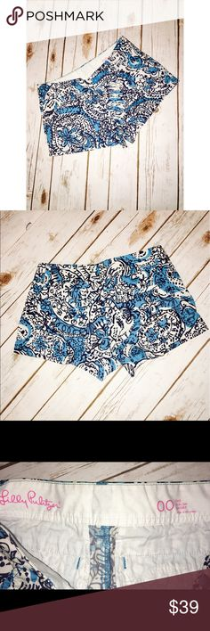Lilly Pulitzer Walsh Short Sz 00 Adorable Lilly Pulitzer Walsh Shorts Sz 00 Lilly Pulitzer Shorts