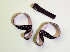 butterfly hair bows - Tutorial