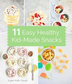 Our favorite easy, yummy and healthy snack recipes tested and made by our kids!
