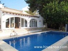 Location villa vacances Moraira - La villa et sa piscine