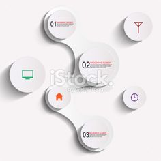 Abstract paper infographic Royalty Free Stock Vector Art Illustration
