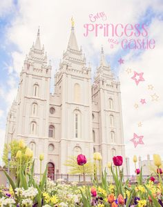 """Every Princess Needs A Castle"" Printable Freebie: Salt Lake Temple by Elozia Marie Photography & Design #LDSTemple #Printable"
