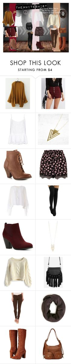 """""""Which White shirt outfit Would you chose?✨"""" by iqralohsar ❤ liked on Polyvore featuring Refuge, Velvet by Graham & Spencer, Mojo Moxy, Topshop, Chloé, Call it SPRING, Red Camel, Chicwish, Hudson and Nine West"""