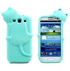 Diffie Kat siliconen telefoonhoesje voor Samsung Galaxy S3 - PhoneGeek.nl