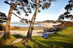 Plage de l'île Callot à Carantec Destination Baie de Morlaix Monts d'Arrée, Bretagne