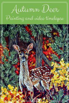 Autumn Deer Painting - Artfully Creative Life