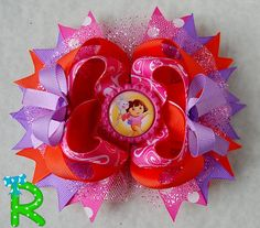 Hey, I found this really awesome Etsy listing at https://www.etsy.com/listing/215869815/dora-hair-bow-dora-the-explorer-boutique