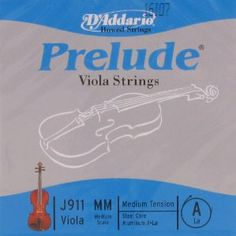 "D'Addario Viola Prelude Aluminum Wound A Medium Scale (15-16""), J911M by D'Addario. $5.09. Strings and Music Accessories by Juststrings.com"