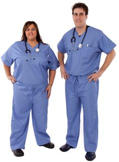 Blue Surgical Scrubs
