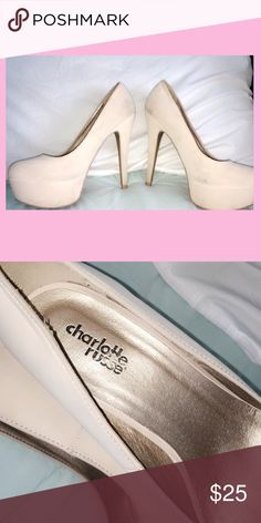 Nude heels In Very good condition never wear them Charlotte Russe Shoes Heels