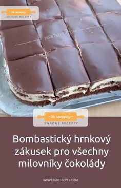 Baking Recipes, Cake Recipes, Dessert Recipes, Sweet Desserts, Sweet Recipes, Gelato, Czech Recipes, Lunch Snacks, Yummy Treats