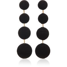 Rebecca de Ravenel     M'O Exclusive Classic Earrings found on Polyvore featuring jewelry, earrings, black, holiday jewelry, handcrafted jewelry, hand crafted jewelry, boho chic jewelry and earring jewelry