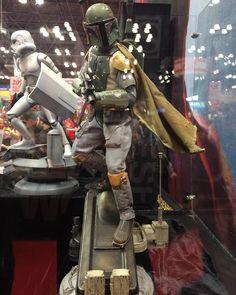 Sick #BobaFett #statue at #SideshowCollectibles.  #StarWars #BountyHunter  #NewYorkComicCon #NewYorkComicCon2015 #NYCC #NYCC15