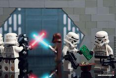 of the best custom LEGO Star Wars creations featured on The Brothers Brick Lego Stormtrooper, Darth Vader Lightsaber, Lego Star Wars Minifiguren, Star Wars Set, Lego Minifigs, Star Wars Minifigures, Obi Wan, Tie Fighter, Star Wars Diorama