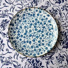 Painted Ceramic Plates, Ceramic Clay, Ceramic Painting, Ceramic Pottery, Pottery Painting Designs, Pottery Designs, Pottery Handbuilding, Traditional Tile, Plant Illustration