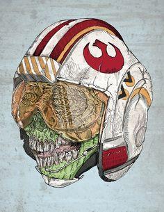 """Zombie Alliance"" by Albert F Montoya - zombie apocalypse meets #StarWars"
