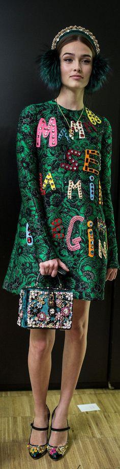 Dolce & Gabbana FW 2015 RTW Green Fashion, Autumn Fashion, Domenico Dolce & Stefano Gabbana, Dolce Gabbana, Fall Winter 2015, Carolina Herrera, Men's Collection, Elie Saab, Shades Of Green