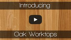 Our superb oak worktops are a regular favourite amongst customers: they're high-quality, affordably priced and available on our 2Man next-day delivery service! Oak features a strong grain and warm colour that matures to perfection over time; it's ideal for both modern and traditional kitchens. See it for yourself in our Youtube video: https://www.youtube.com/watch?v=7OMwsgRkGCg