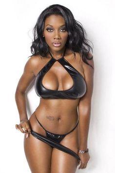 American fitness african model black