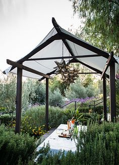 One of the teahouses in the Ojai Valley Inn & Spa's herb garden