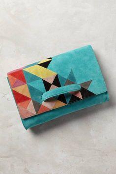 Tangram Clutch by Jasper & Jeera | Pinned by topista.com