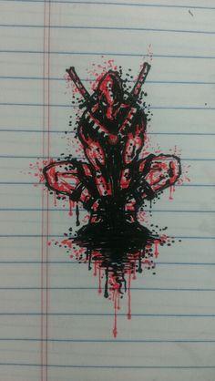 Deadpool splatter...im so productive at work...haha