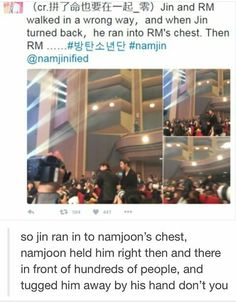 I love Namjin. I try not to ship them then stuff like this happens...
